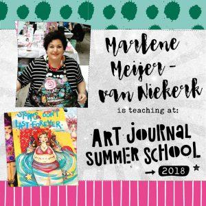 Enroll Art Journal Summer School 2018 with Mariëlle Stolp